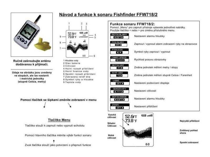 Bezdrátový Echolot Wireless Fish Finder