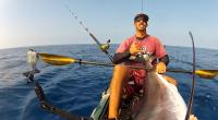 Černý Marlin (Black marlin) chycený v blízkosti Velkého ostrova na Havaji. 105 liber živé váhy ulovených chlapíkem se jmeném Rob Wong Yuen. Máte také zájem o extremní rybáření z kajaku […]
